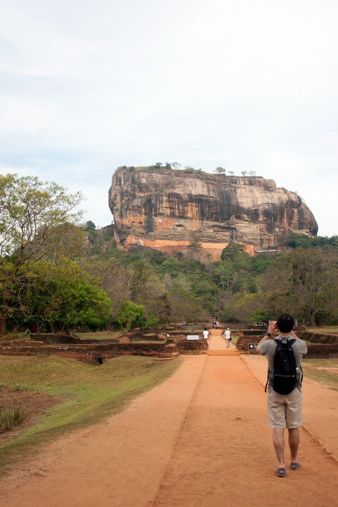 Sigiriya Rock from the bottom, Sri Lanka